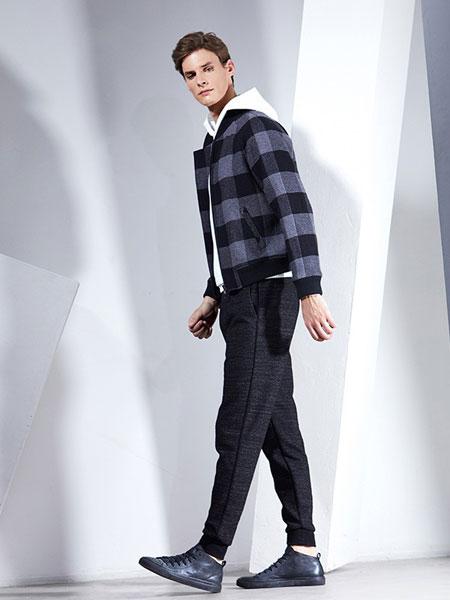 男眼男装品牌2019春季新款立领宽松上衣百搭复古夹克韩版格子短外套