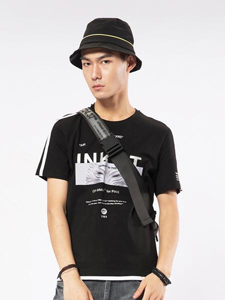 凯施迪 CAISEDI男装品牌2019春夏新款潮牌修身纯棉印花个性短袖t恤
