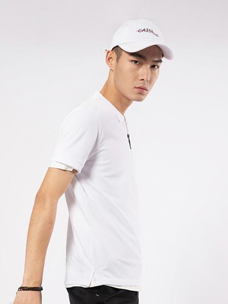 凯施迪 CAISEDI男装品牌2019春夏新款韩版圆领修身商务休闲短袖T恤