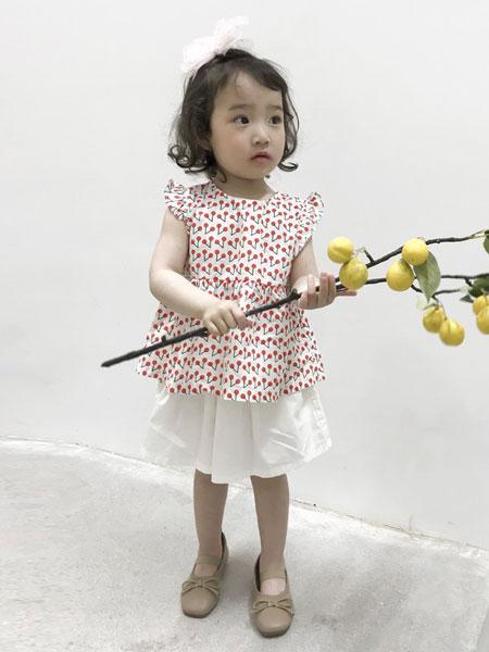 妹妹恩倪童装品牌2019春夏新款时髦儿童女孩洋气两件套潮