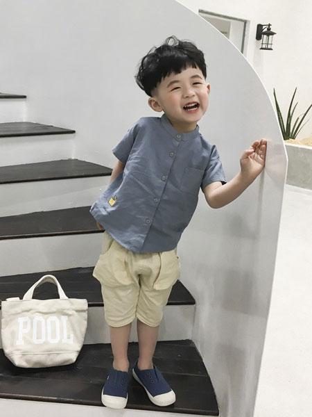 妹妹恩倪童装品牌2019春夏短袖运动儿童两件套