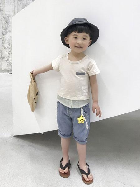 妹妹恩倪童装品牌2019春夏新款韩版休闲洋气儿童短袖二件套宝