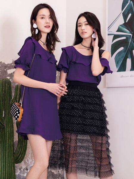 布根香女装品牌2019春夏韩版可外穿可爱雪纺气质连衣裙