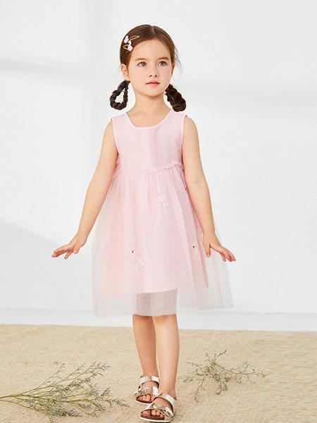 太平鸟童装童装品牌2019春夏新款韩版无袖洋气连衣裙公主裙