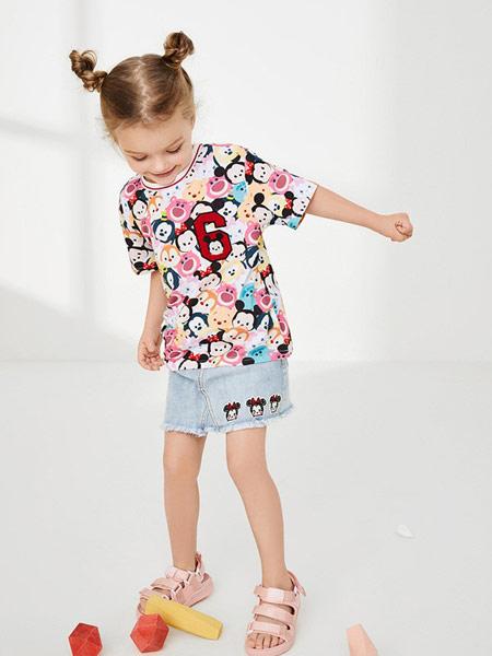 太平鸟童装童装品牌2019春夏新款时尚印花T恤圆领宽松短袖上衣