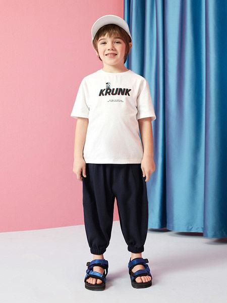 gxgkids童装品牌2019春夏新款字母印休闲短袖百搭T恤
