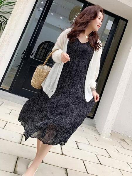 cc+di charme女装品牌2019春夏无袖吊带背心连衣裙