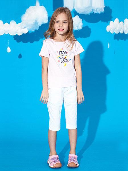 ABC KIDS童装品牌2019春夏新款韩版时尚洋气百搭圆领短袖T恤