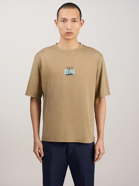Dunhill登喜路男装品牌2019春夏新款新款时尚休闲宽松百搭短袖T恤
