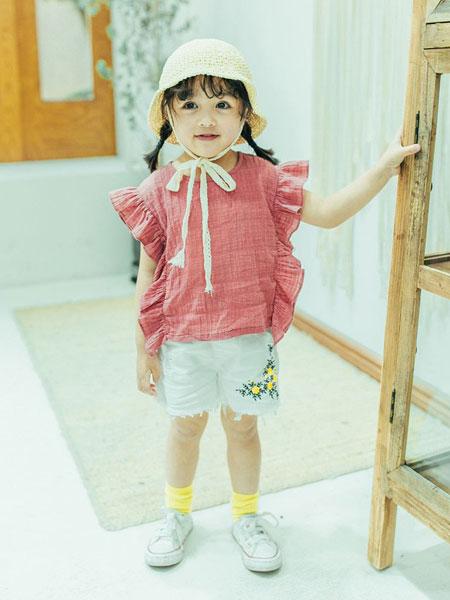 创印象童装品牌2019春夏韩版透气清凉公主儿童洋气套装背心+裤子