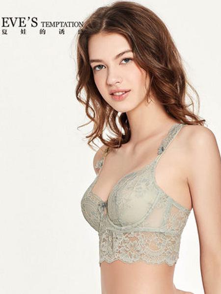 夏娃的诱惑内衣品牌2019春夏蕾丝大胸内衣女薄款显小文胸超薄无海绵胸罩