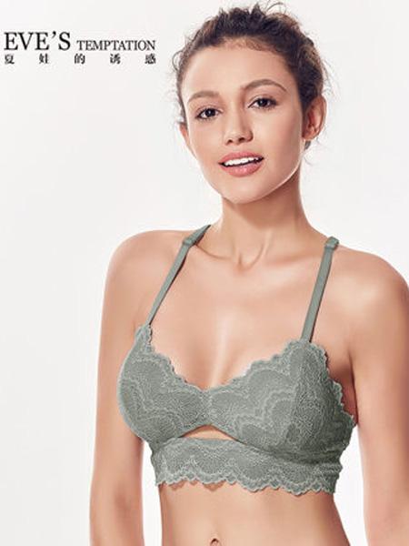 夏娃的诱惑内衣品牌2019春夏性感蕾丝文胸薄款上托胸罩超薄大码内衣女大胸显小