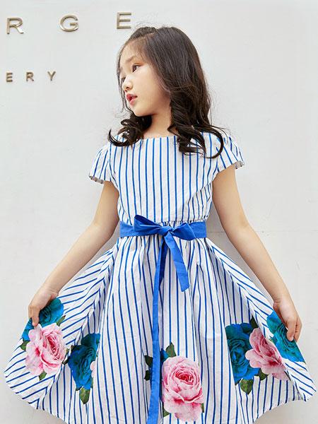 男生女生Hey Lads童装品牌2019春夏韩版中童花朵公主无袖连衣裙