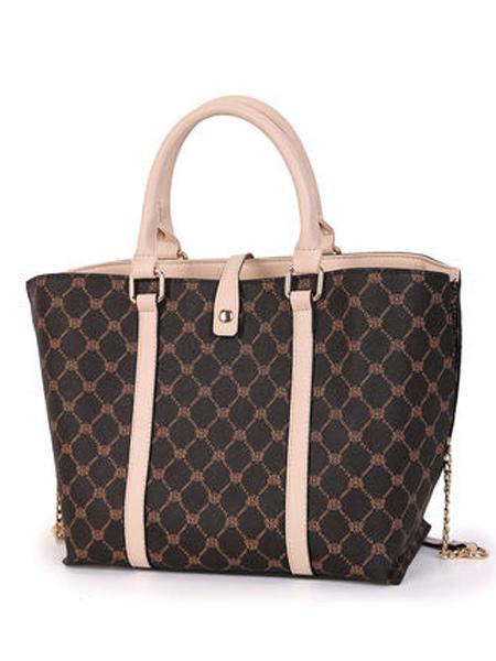 丹尼熊箱包品牌2019春夏新款时尚气质链条斜挎包经典格纹大气手提包
