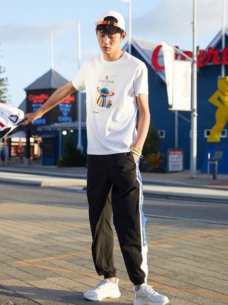 贝斯堡peacebird男装品牌2019春夏新款韩版时尚宽松休闲百搭圆领短袖T恤