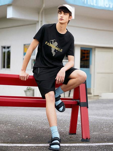 马克华菲男装品牌2019春夏新款纯棉圆领修身时尚印花短袖t恤