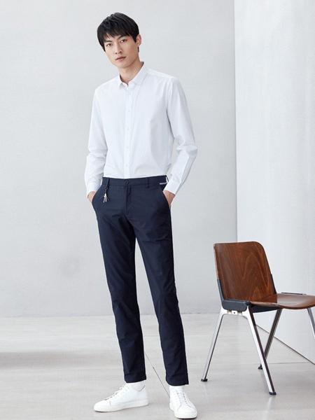 海澜之家男装品牌2019春夏新款弹力舒适高腰简约百搭日系直筒休闲裤