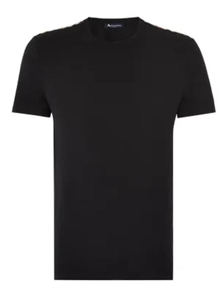 Aquascutum雅格狮丹男装品牌2019春夏新款时尚休闲简约百搭圆领短袖T恤