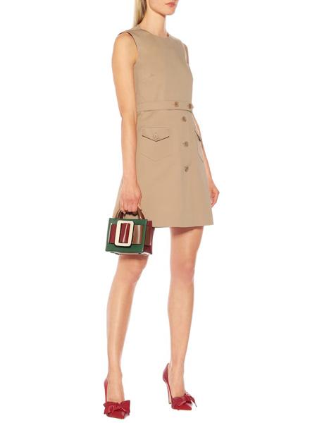 艾克妮女装品牌2019春夏新款简约大气职业气质休闲无袖修身连衣裙