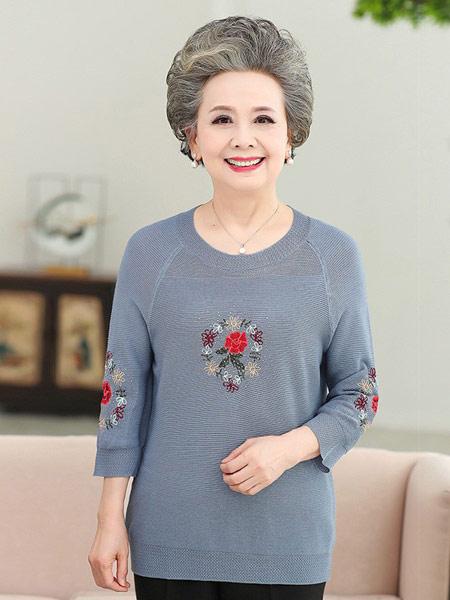 知碧女装品牌2019春夏新款时尚洋气七分袖T恤
