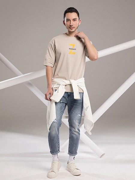 冠·优品汇男装品牌2019春夏新款韩版时尚宽松休闲百搭圆领短袖T恤