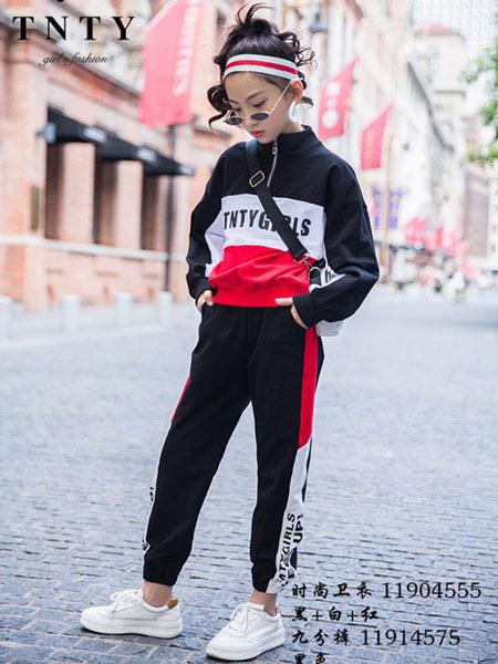 同年同月童装品牌2019秋冬新款韩版洋气百搭运动休闲套装