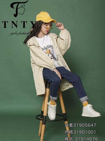 同年同月童装品牌2019秋冬新款韩版宽松中长款长袖风衣潮