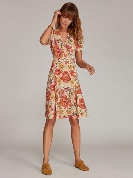 Etro艾绰女装品牌2019春夏新款文艺宽松显瘦气质印花中长款连衣裙