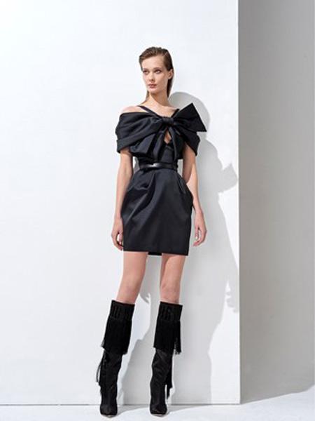 祖海·慕拉女装品牌2019春夏新款时尚优雅气质修身显瘦连衣裙