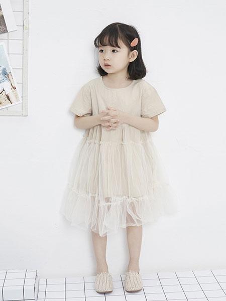 马沫含童装品牌2019春夏新款韩版洋气短袖儿童裙潮