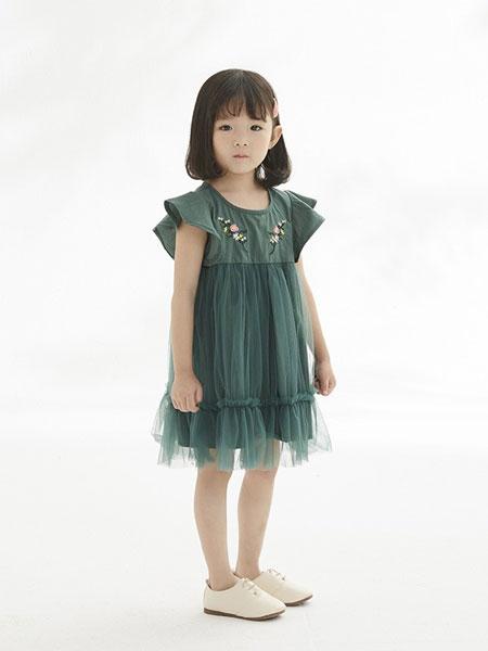 马沫含童装品牌2019春夏女童时髦洋气公主连衣裙