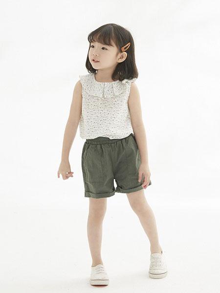 马沫含童装品牌2019春夏纯色圆领宽松打底短袖T恤