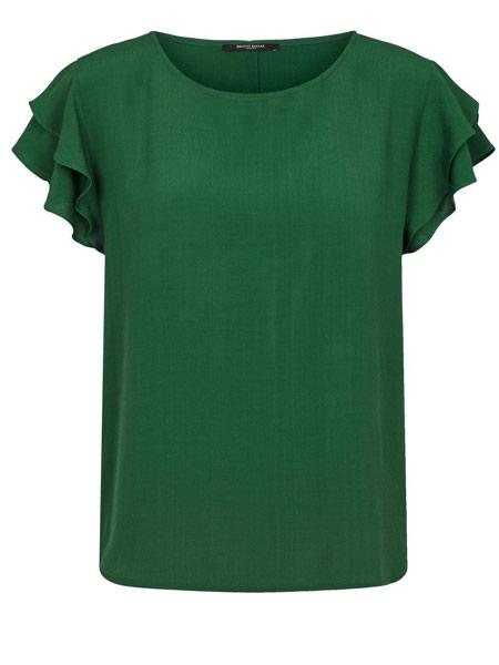 Bruuns Bazaar 女装品牌2019春夏新款轻熟纯色百搭圆领短袖上衣