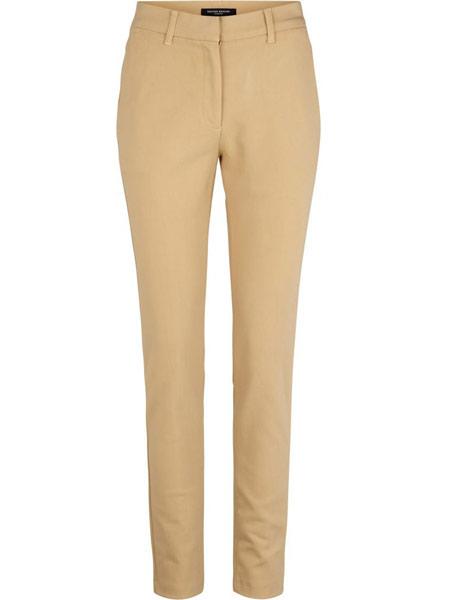 Bruuns Bazaar 女装品牌2019春夏新款经典款高腰斜纹布直筒裤