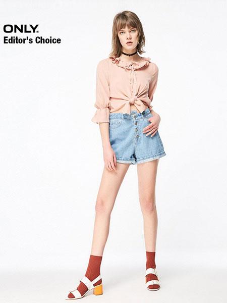 ONLY女装品牌2019春夏新款宽松圆领慵懒风白色上衣韩版潮半袖短袖t恤