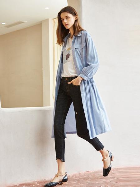 MSLE蜜�评蚨�女装品牌2019秋季新款衬衣女中长款宽松外套开衫