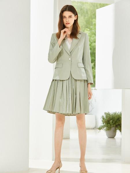 MSLE蜜�评蚨�女装品牌2019秋季新款韩版纯色时尚宽松百搭西服套装