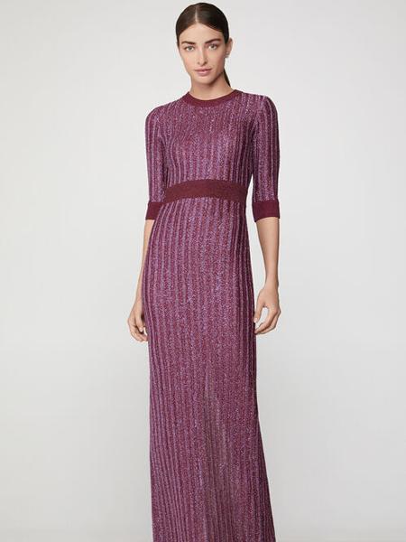 Herve Leger荷芙妮格女装品牌2019春夏新款针织包臀裙修身显瘦连衣裙