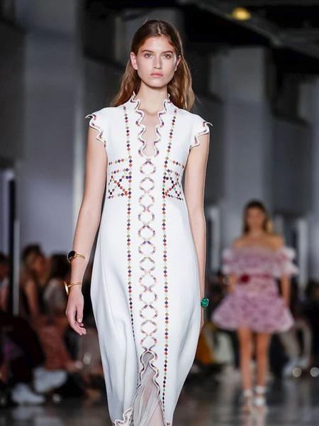 Giambattista Valli詹巴迪斯塔・瓦利女装品牌2019春夏新款时尚优雅气质显瘦连衣裙