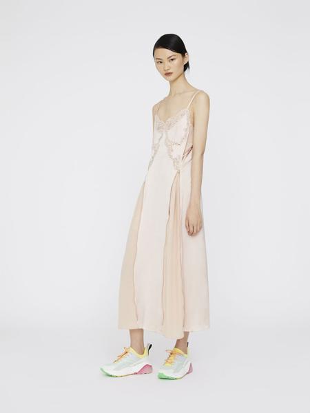 丝黛拉·麦卡妮女装品牌2019春夏新款性感修身纯色蕾丝吊带连衣长裙