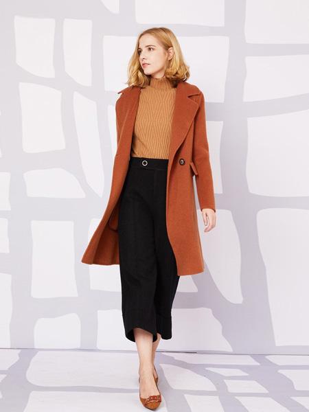 安姬曼女装品牌新款韩版宽松中长气质显瘦外套
