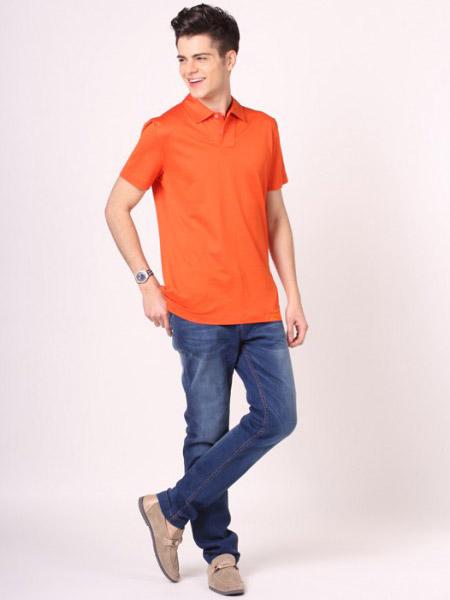 卡思·威尔男装品牌新款韩版时尚简约百搭翻领短袖T恤