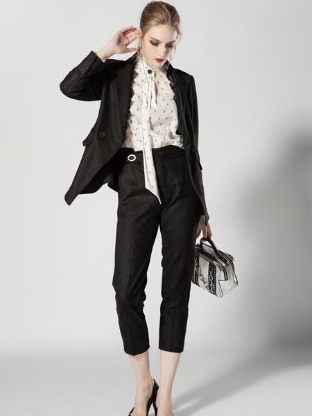 JA&EXUN女装品牌2019秋季新款时尚优雅气质休闲职业装西服套装