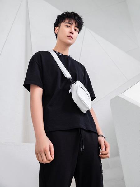 迹风-JIFENG男装品牌2019春夏新款简约百搭纯棉休闲 宽松短袖T恤
