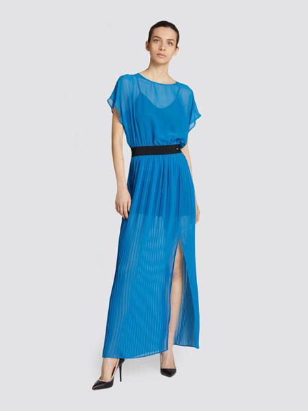 楚萨迪女装品牌2019春夏新款气质通勤收腰纯色连衣裙
