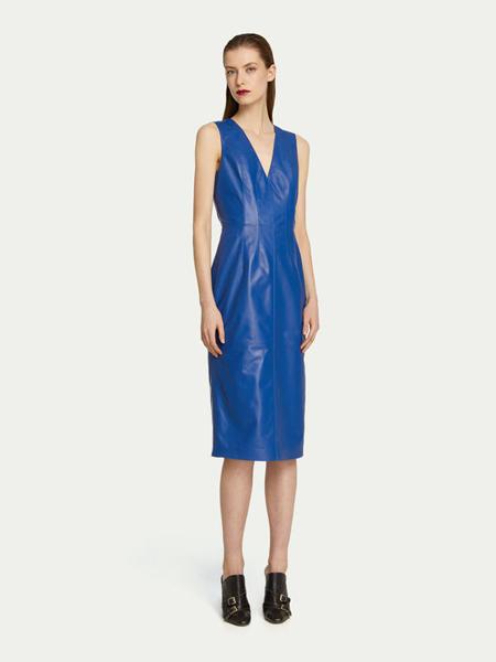 楚萨迪女装品牌2019春夏新款简约时尚V领显瘦宽松连衣裙
