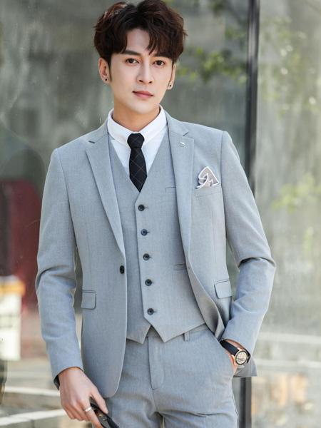 卡邦易男装品牌2019秋季新款韩版修身商务休闲西装套装