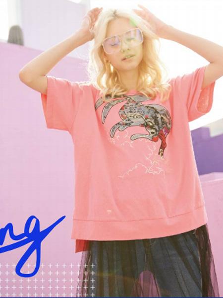 SH Gu Tang女装品牌2019春夏新款韩版显瘦时尚休闲洋气百搭短袖T恤潮