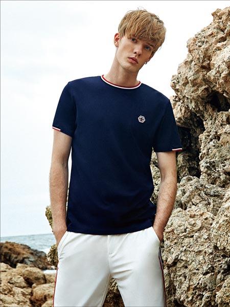 杰欧里顿男装品牌2019春夏新款时尚休闲百搭短袖简约纯色T恤