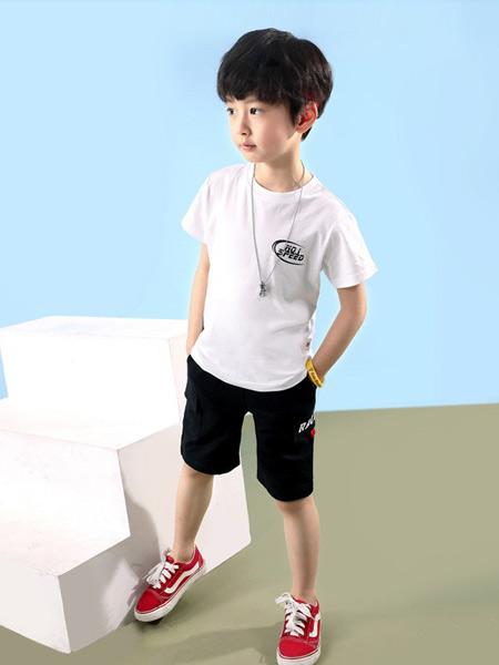 多多家童装品牌2019春夏新款韩版时尚洋气宽松百搭圆领短袖T恤